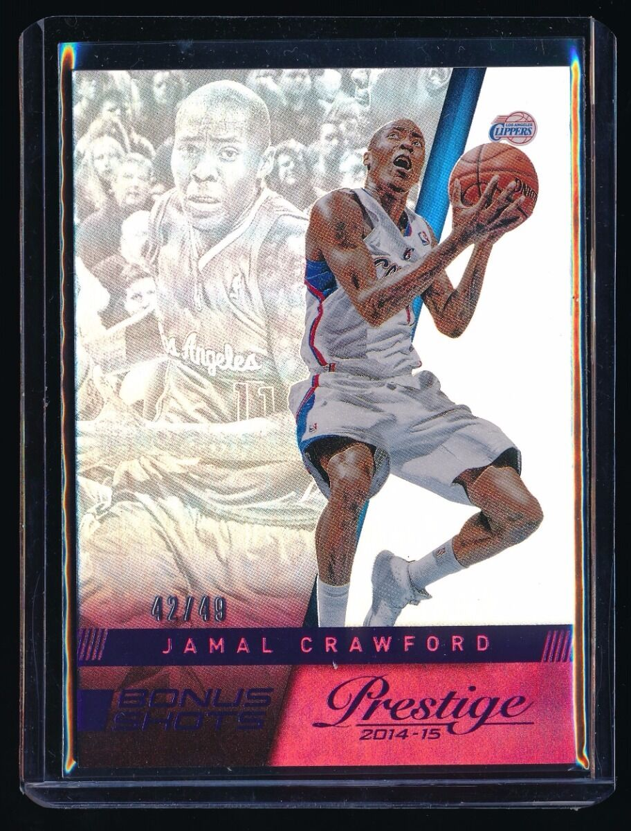 JAMAL CRAWFORD 2014-15 PRESTIGE BONUS SHOTS PURPLE #2 42/49 LOS ANGELES CLIPPERS