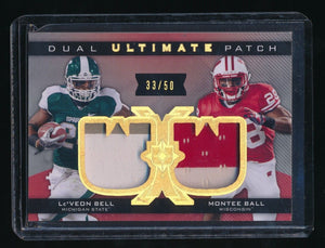 LE'VEON BELL MONTEE BALL 2013 ULTIMATE COLLECTION ULTIMATE DUAL RC PATCH 33/50