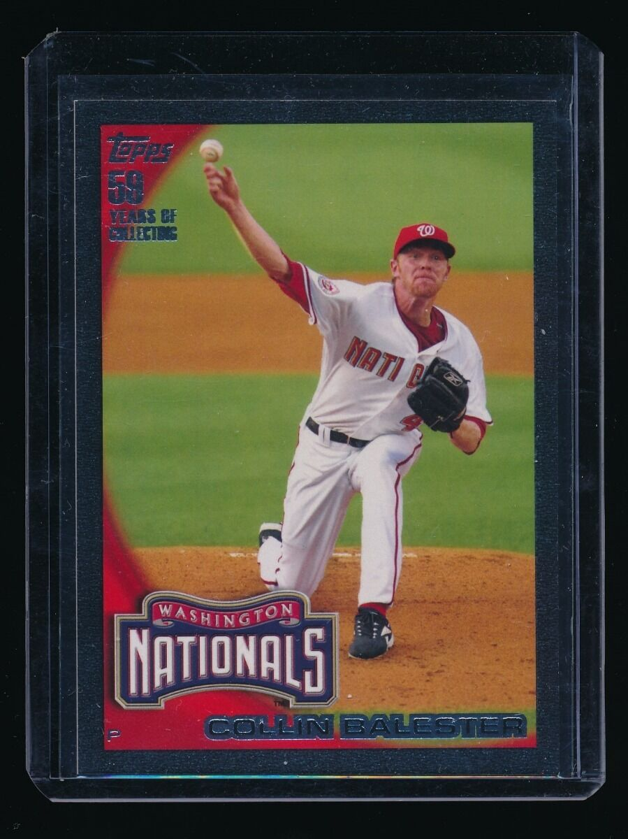 COLLIN BALESTER 2010 TOPPS BLACK #654 54/59 WASHINGTON NATIONALS