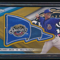 ORLANDO ARCIA 2016 TOPPS PRO DEBUT PENNANT RC PATCH GOLD 46/50 *BREWERS*