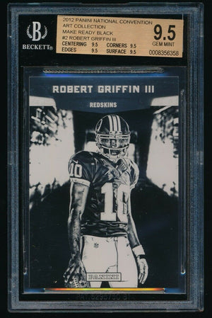 BGS 9.5 ROBERT GRIFFIN 2012 PANINI NATIONAL RC ART COLLECTION MAKE READY BLACK