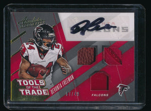 DEVONTA FREEMAN 2017 ABSOLUTE TOOLS OF THE TRADE BALL JERSEY AUTO 07/49 *FALCONS