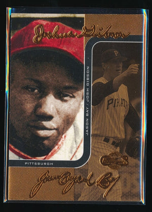 JOSH GIBSON JASON BAY 2006 TOPPS CO-SIGNERS CHANGING FACES BRONZE 109/150 PIRATE