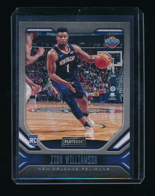 ZION WILLIAMSON 2019-20 PANINI CHRONICLES #169 PLAYBOOK RC *PELICANS* (B)