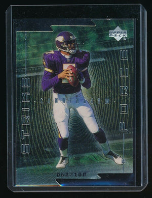 RANDALL CUNNINGHAM 1999 UPPER DECK STRIKE FORCE QUANTUM SILVER #/100 *VIKINGS*