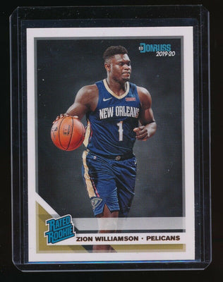 ZION WILLIAMSON 2019-20 DONRUSS #201 RR RC *NEW ORLEANS PELICANS* (Q)