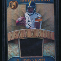 R. JOSHUA DOBBS 2017 PANINI GOLD STANDARD NEWLY MINTED RC JERSEY 77/199 STEELERS