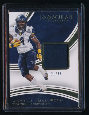 WENDELL SMALLWOOD 2016 IMMACULATE COLLECTION COLLEGIATE RC GLOVE 21/36 *EAGLES*