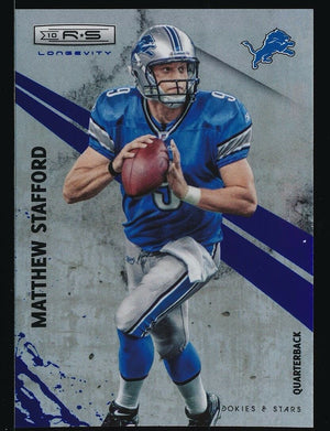 MATTHEW STAFFORD 2010 PANINI ROOKIES AND STARS LONGEVITY 45/50 *DETROIT LIONS*