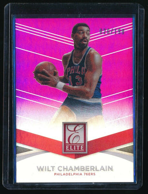 WILT CHAMBERLAIN 2014-15 ELITE PURPLE #100 026/199 *PHILADELPHIA 76ERS*