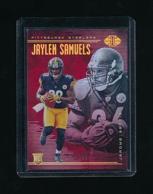 JAYLEN SAMUELS/JEROME BETTIS 2018 PANINI ILLUSIONS RED #17 RC 78/199 *STEELERS