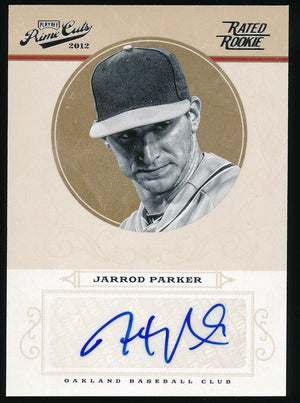 JARROD PARKER 2012 PANINI PLAYOFF PRIME CUT RATED ROOKIE AUTO 050/149*ATHLETICS*