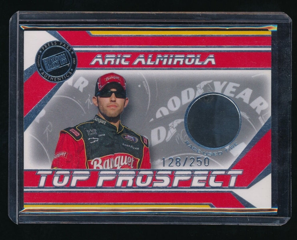 ARIC ALMIROLA 2007 PRESS PASS TOP PROSPECTS TIRE SILVER #AAT 128/250