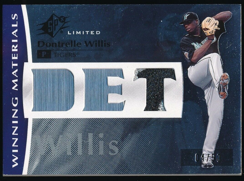 DONTRELLE WILLIS 2008 UD SPX WINNING MATERIALS JERSEY 04/50 *DETROIT TIGERS*