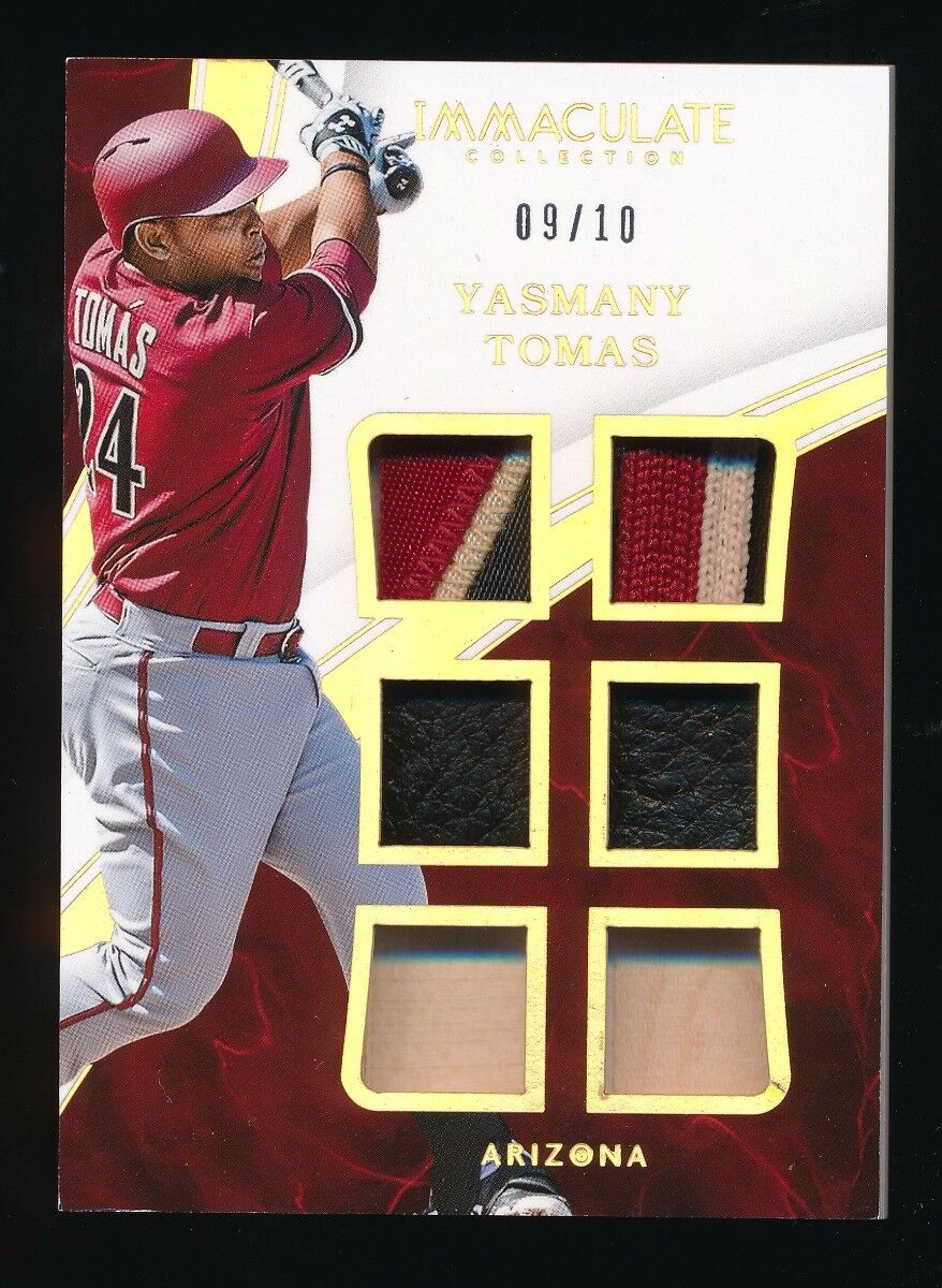 YASMANY TOMAS 2016 IMMACULATE COLLECTION SIX BAT GLOVE PATCH 09/10 *DIAMONDBACKS