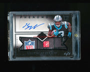1/1 KELVIN BENJAMIN 2014 PANINI LIMITED BLACK NFL LOGO LAUNDRY TAG PATCH AUTO RC