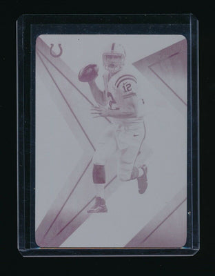1/1 ANDREW LUCK 2017 PANINI XR NOTORIOUS PRINTING PLATE MAGENTA *COLTS*