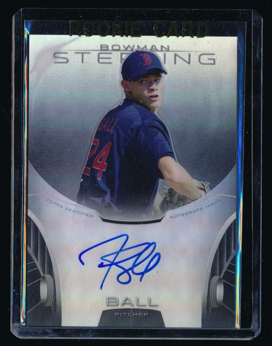 TREY BALL 2013 BOWMAN STERLING PROSPECT AUTO REFRACTOR 066/150 *BOSTON RED SOX*