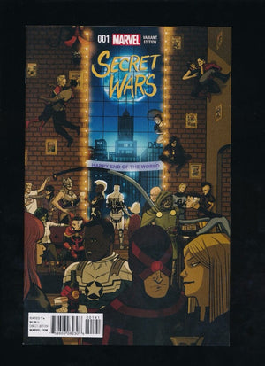 SECRET WARS #001 MARVEL COMICS 2015 CHIP ZDARSKY PARTY VARIANT COVER NM