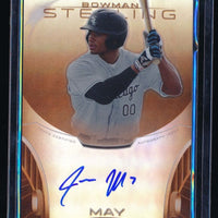 JACOB MAY 2013 BOWMAN STERLING PROSPECT AUTOGRAPH ORANGE REFRACTOR AUTO 39/75