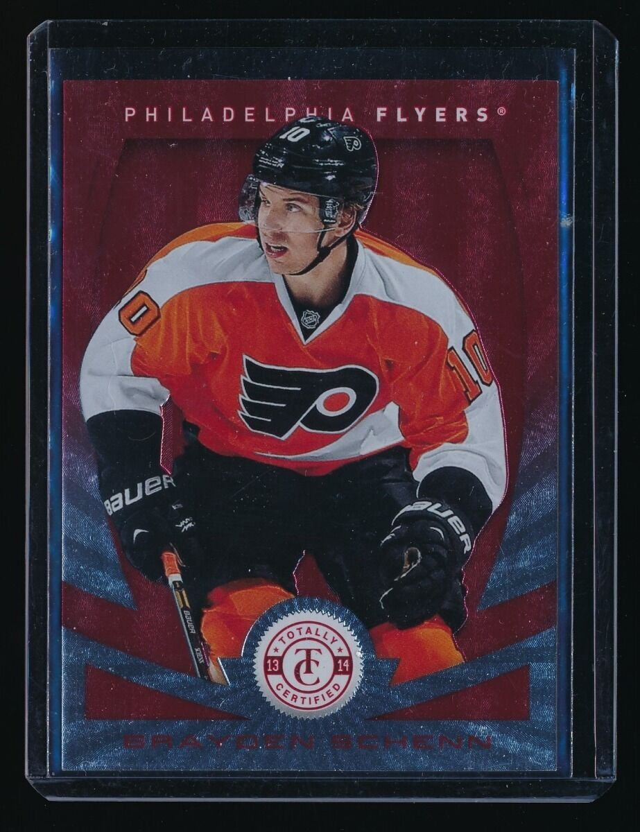 BRAYDEN SCHENN 2013-14 TOTALLY CERTIFIED PLATINUM RED #84 055/100 PHILADELPHIA