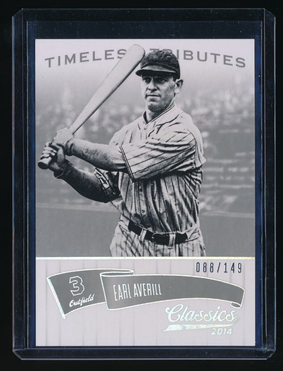 EARL AVERILL 2014 CLASSICS TIMELESS TRIBUTES SILVER 088/149 CLEVELAND INDIANS