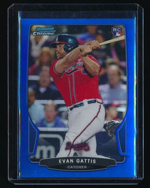 EVAN GATTIS 2013 BOWMAN CHROME DRAFT BLUE REFRACTOR #37 24/99 *ATLANTA BRAVES*