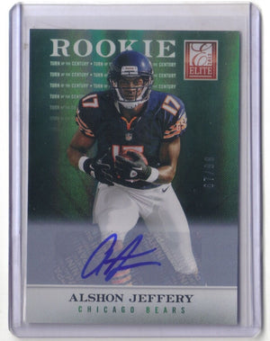 ALSHON JEFFERY 2012 ELITE TURN OF THE CENTURY AUTOGRAPH RC AUTO 67/99 CHICAGO