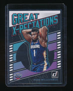ZION WILLIAMSON 2019-20 DONRUSS GREAT X-PECTATIONS RC *NEW ORLEANS PELICANS (A)