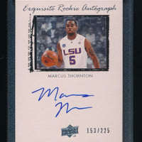 MARCUS THORNTON 2009-10 EXQUISITE COLLECTION RC AUTO 153/225 NEW ORLEANS HORNETS