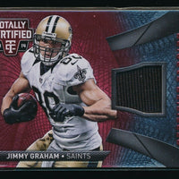JIMMY GRAHAM 2014 TOTALLY CERTIFIED CERTIFIED FABRICS RED JERSEY 2/100 *SAINTS*