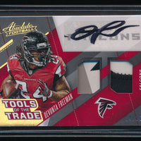 DEVONTA FREEMAN 2017 ABSOLUTE TOOLS OF THE TRADE DUAL PATCH AUTO 04/10 *FALCONS*