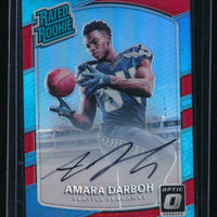AMARA DARBOH 2017 DONRUSS OPTIC RATED ROOKIES RC AUTO RED 06/50 *SEAHAWKS*