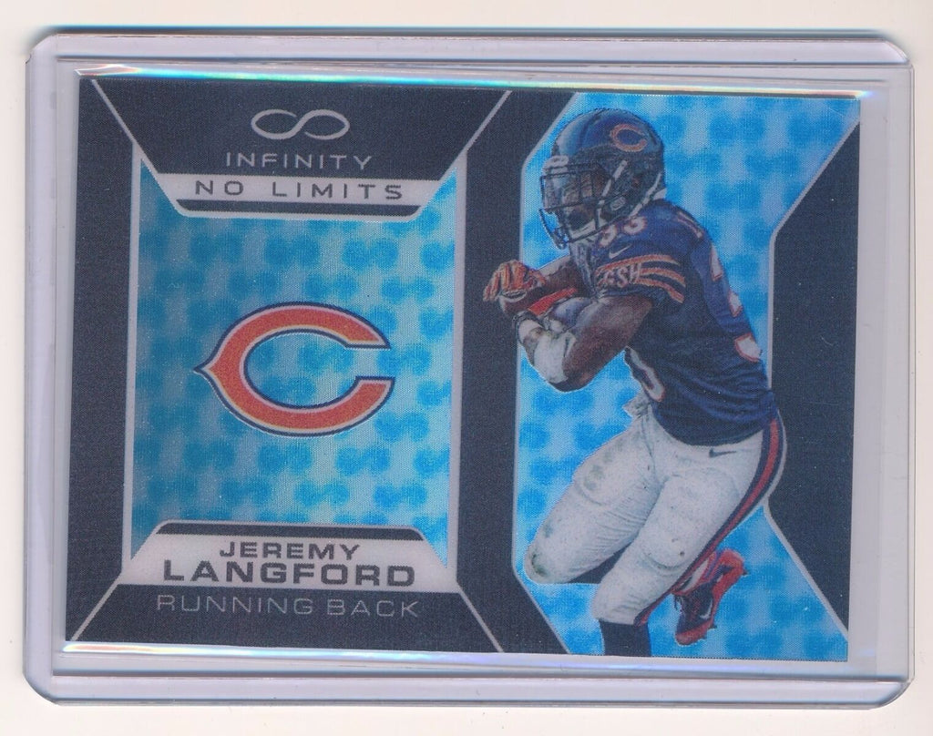 JEREMY LANGFORD 2016 PANINI INFINITY NO LIMITS #6 182/188 *CHICAGO BEARS*