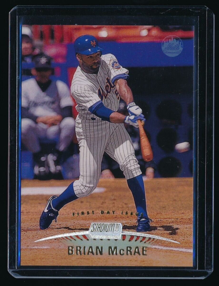 BRIAN MCRAE 1999 STADIUM CLUB FIRST DAY ISSUE 025/200 NEW YORK METS