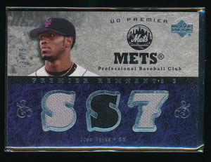 JOSE REYES 2007 UPPER DECK PREMIER REMNANTS TRIPLE JERSEY 23/75 *NEW YORK METS*