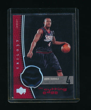 ANDRE IGUODALA 2004-05 UPPER DECK TRILOGY THE CUTTING EDGE RC JERSEY *76ERS