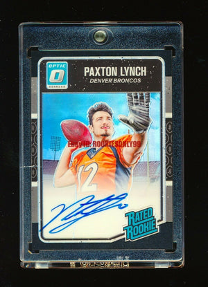 PAXTON LYNCH 2016 PANINI OPTIC BLACK PRIZM REFRACTOR AUTOGRAPH AUTO RC #D 07/25