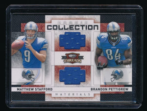 MATTHEW STAFFORD PETTIGREW 2009 DONRUSS THREADS ROOKIE COLLECTION RC JERSEY /500