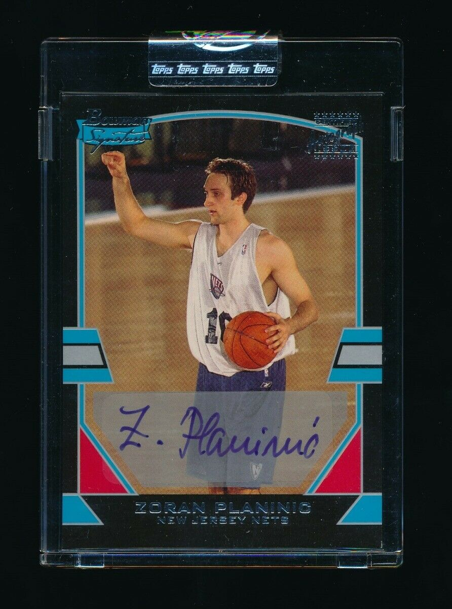 ZORAN PLANINIC 2003-04 BOWMAN SIGNATURE EDITION RC AUTO 1119/1250 NEW JERSEY NET