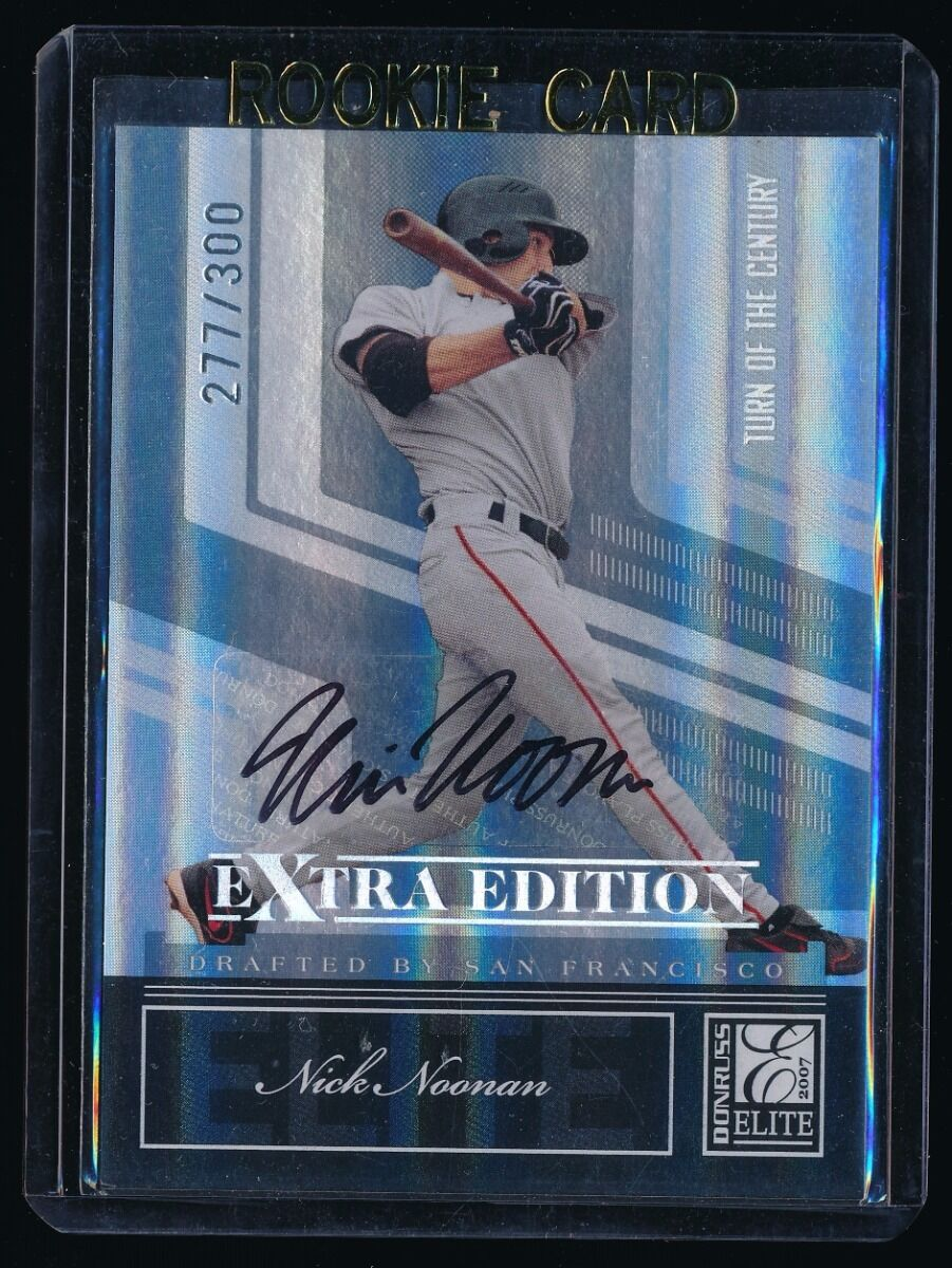 NICK NOONAN 2007 DONRUSS ELITE EXTRA EDITION TURN OF THE CENTURY RC AUTO 277/300