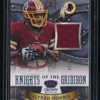 ALFRED MORRIS 2013 CROWN ROYALE KNIGHTS OF THE GRIDIRON MATERIAL JERSEY 13/20