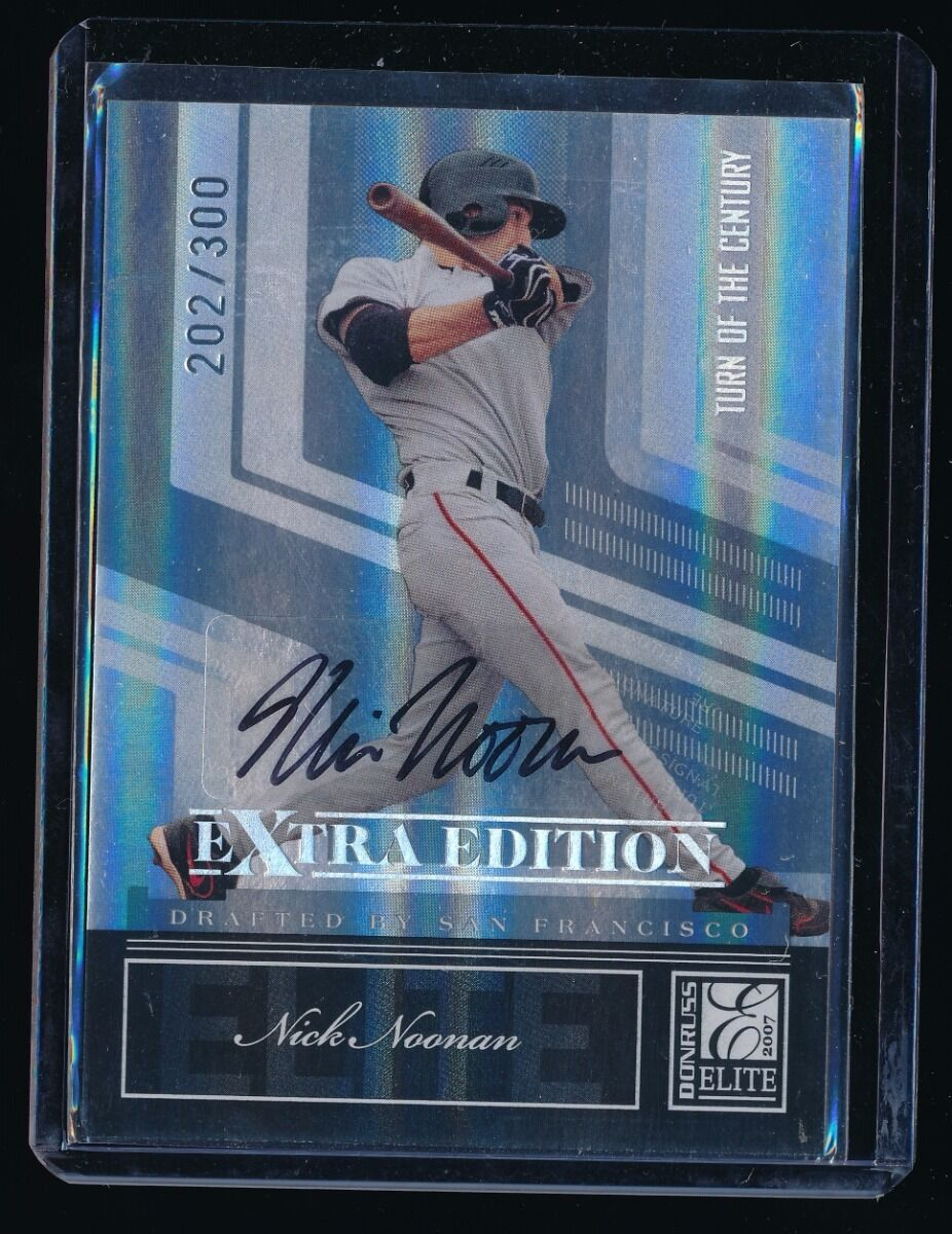 NICK NOONAN 2007 DONRUSS ELITE EXTRA EDITION TURN OF THE CENTURY RC AUTO 202/300