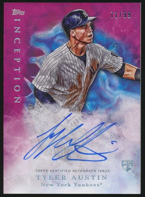 TYLER AUSTIN 2017 TOPPS INCEPTION MAGENTA AUTOGRAPH ROOKIE CARD 71/99 *YANKEES*