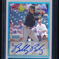 BOBBY BORCHERING 2009 BOWMAN CHROME DRAFT PROSPECTS REFRACTOR AUTO 199/500
