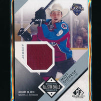 MATT DUCHENE 2016-17 SP GAME USED ALL STAR SKILLS FABRICS JERSEY *AVALANCHE*