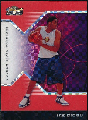 IKE DIOGU 2004-05 FINEST X-FRACTORS RED ROOKIE CARD 017/119 *WARRIORS*