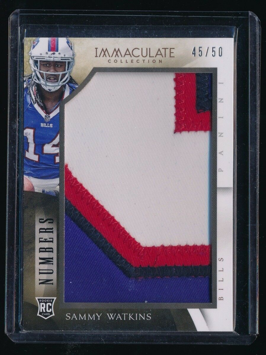 SAMMY WATKINS 2014 IMMACULATE COLLECTION NUMBERS JUMBO RC PATCH 45/50 *EAGLES*