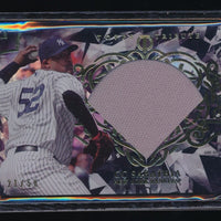 CC SABATHIA 2015 TOPPS TRIBUTE DIAMOND CUTS JERSEY BLACK 21/50 NEW YORK YANKEES