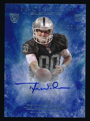 TYLER WILSON 2013 TOPPS INCEPTION ELEMENTS AUTO RC 23/25 *OAKLAND RAIDERS*